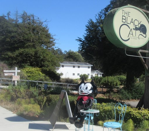 Black Cat Bistro during Scarecrow Festival October 2014, Cambria, Ca