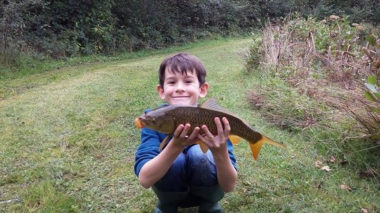 Handley Farm: Fishing at the lake