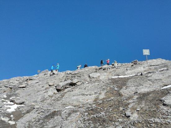 Ha Ling Peak: looking back up on climb down