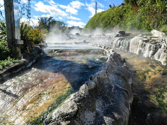 Waikite Valley Thermal Pools: Cooling the boiling water that goes into the pools