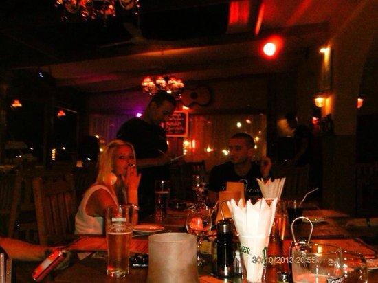 The Lodge Restaurant: Hazem taking our order