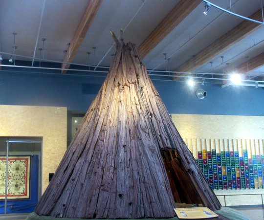 Interesting Wood Tee Pee, Turtle Bay Exploration Park, Redding, Ca