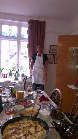 lovely breakfast at Leena's guest house