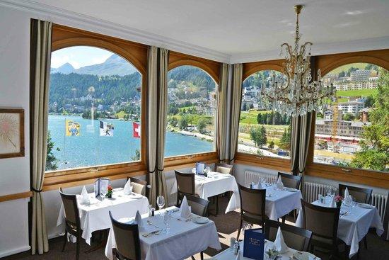 Restaurant Waldhaus am See : Aussicht auf St. Moritz