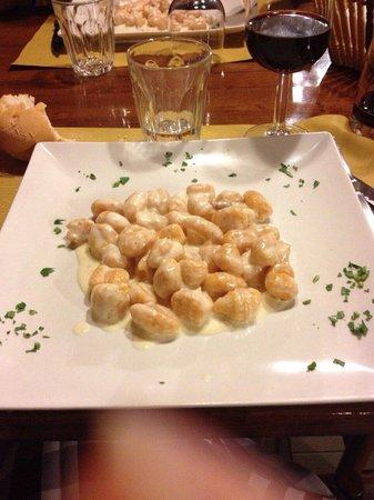 Osteria Vecchia Lodi : Gnocchi di zucca con crema