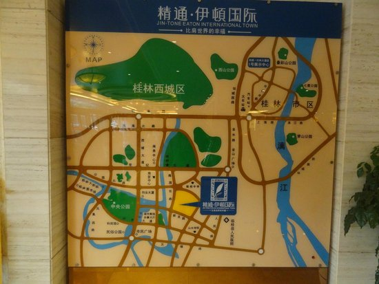 Jintone Guilin Grand Hotel: Location map in the foyer