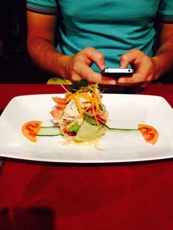Naya Gawana Resort & Spa: Salad as a starter
