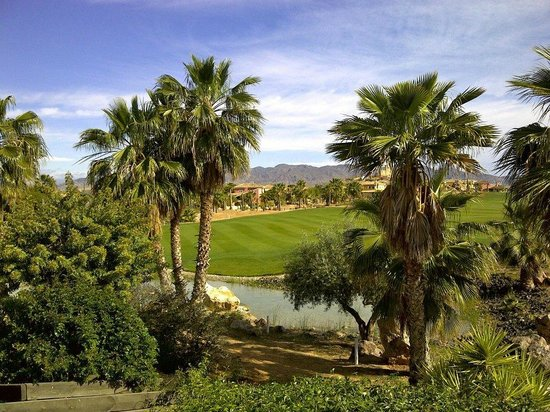 The Desert Springs Resort: View from the balcony up the 18th fairway