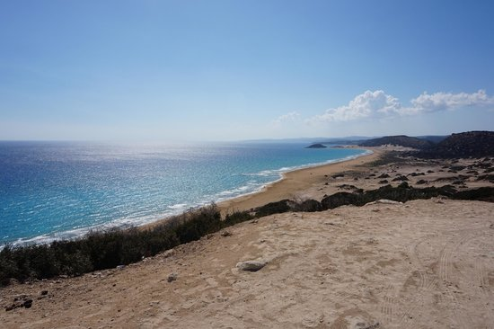 Karpas Peninsula: view of the coastline