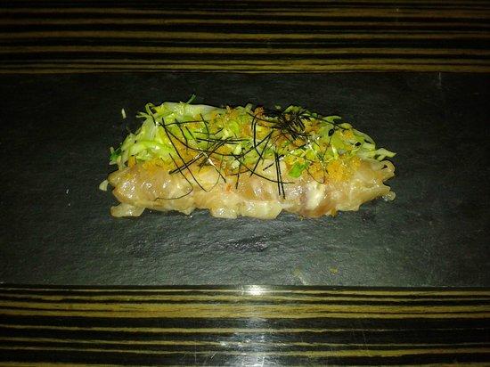 Umami: Kingfish sashimi with yuzu-miso dressing