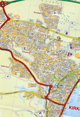 Invertiel Bed & Breakfast: Kirkcaldy Map