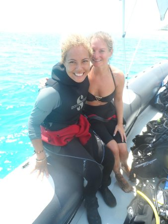 East Africa Diving Centre: The best instructor Malu and me