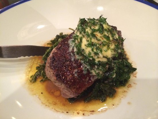 Kai: Steak with Kale and herb butter