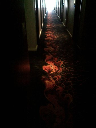 Protea Hotel Fire & Ice! by Marriott Cape Town: Dark narrow passage - daylight