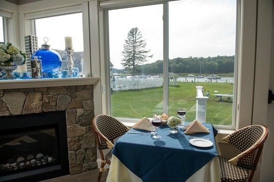 95 Ocean at The Nonantum Resort: Table for 2 with lovely water views