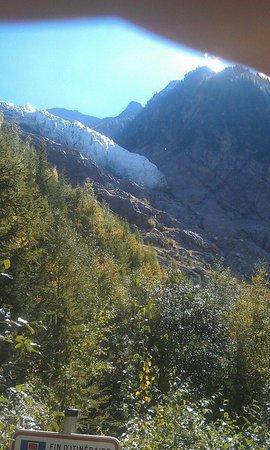 Glacier des Bossons: Glacier view site