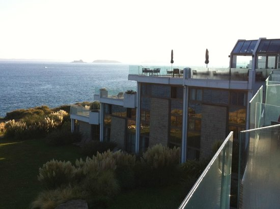 Novotel Thalassa Dinard : chambre vue mer prise de la terrasse du resto