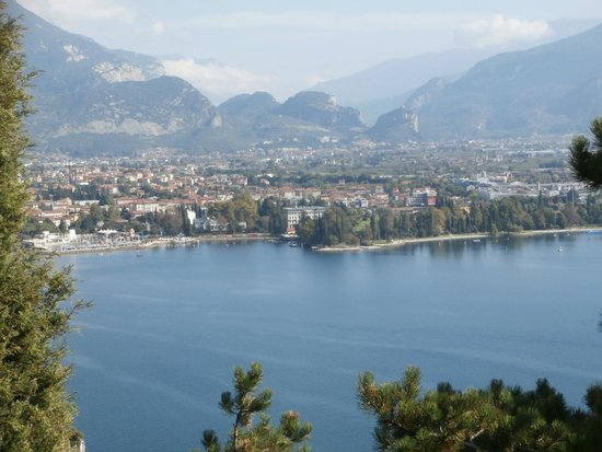 Hotel Gardesana: View from mountain  of Riva del Garda