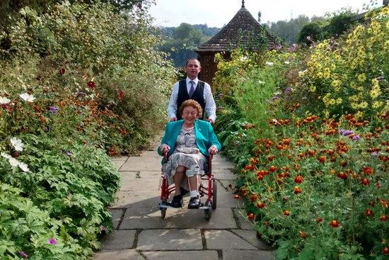 Gravetye Manor Hotel and Restaurant: Brian wheeling Mum around the garden.