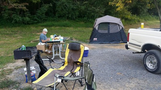 Panther Creek State Park: Our campsite