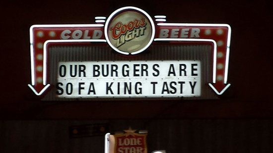 Twisted Root Burger Co. : The sign says it all