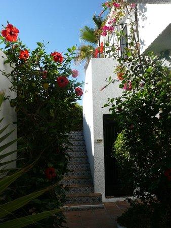 Hotel Los Arcos : ingang van ons appartementje