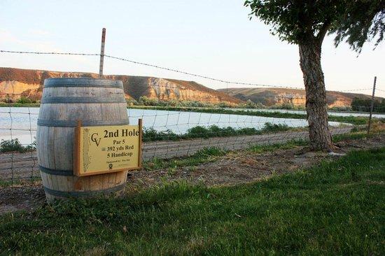 Carmela Winery Restaurant : Golfing along the river