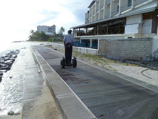 South Coast Boardwalk: Local police officer on Boardwalk patrol