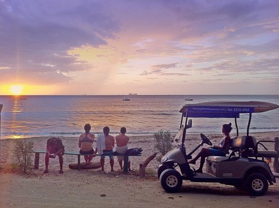 Playa Potrero, Costa Rica: Go every night and see the sunset from your comfortable cart