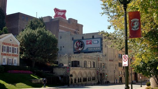 Miller Brewery Tour : Up the street view