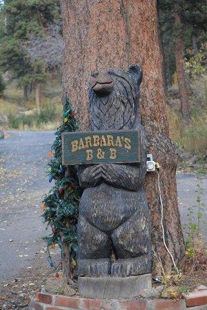 Barbara's B&B: B&B sign