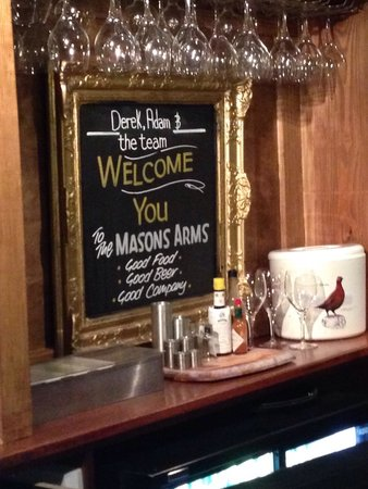 The Mason's Arms: Welcome