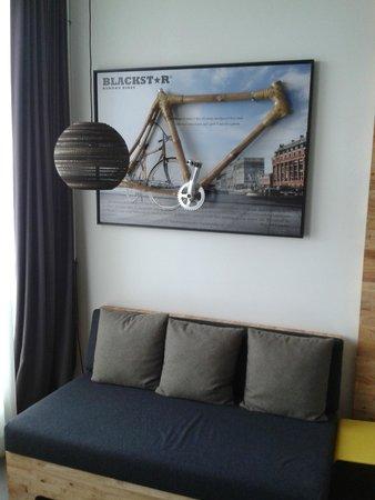 Skotel Amsterdam: één van de originele kamers