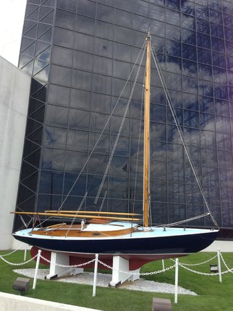 John F. Kennedy Presidential Museum & Library: JKF's sailboat Victura