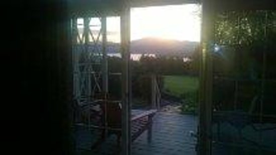 Lodge at Moosehead Lake: View from our room's patio.