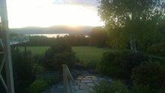 Lodge at Moosehead Lake: Sunset from our room's private patio.