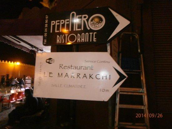 Le Marrakchi: follow the sign