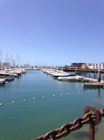Marina Rubicón: Blick vom Cafe del Puerto auf den Hafen