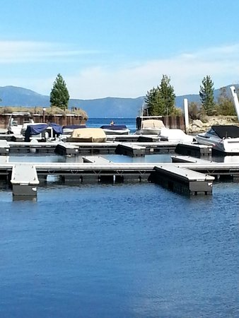Meeks Bay Resort: The marina on the creek