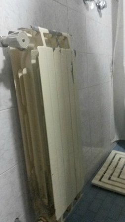 Hotel Lungomare: termosifone bagno arrugginito