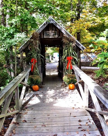 Parker's Maple Barn: Cute Covered bridge to gift ahop