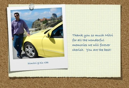 George's Taxi - Private Tours : Dimitris with George's Taxi and his great ride