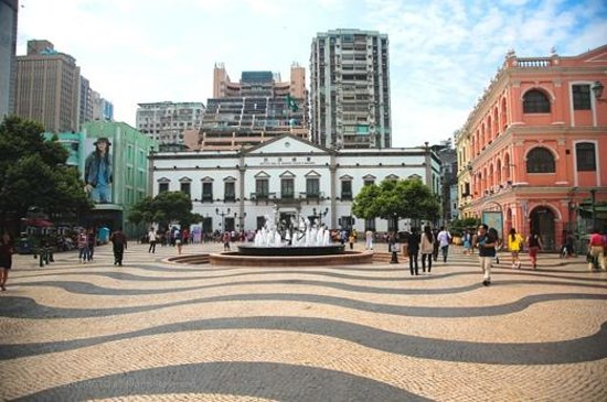 Traditional Portuguese-style Mosaics pavement can be seen throughout Macau