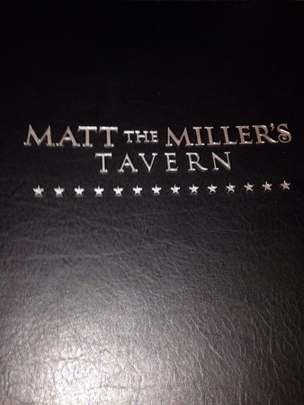 Matt the Millers Tavern Carmel: Menu