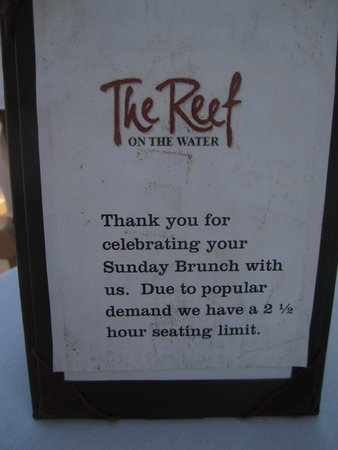 The Reef Restaurant On Water Sunday Brunch