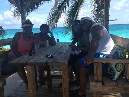 Exuma Palms Hotel : The beach is only a few feet away!