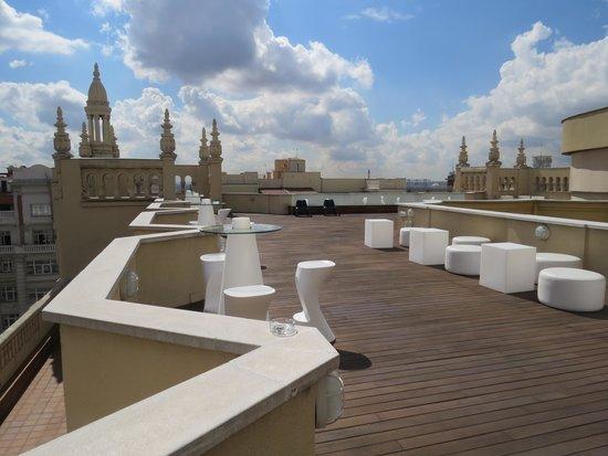 Terraza Con Vistas Fotografía De Tryp Madrid Cibeles Hotel