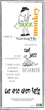 Jazz Monkey Fusion Lounge and Bar: News flash...