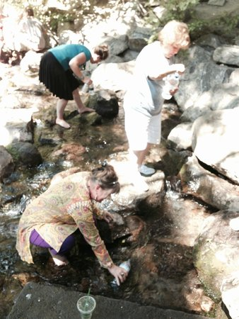 Mount Shasta City Park : Collecting the purest water on Earth from the Headwaters of the Sacramento River, Mt. Shasta.
