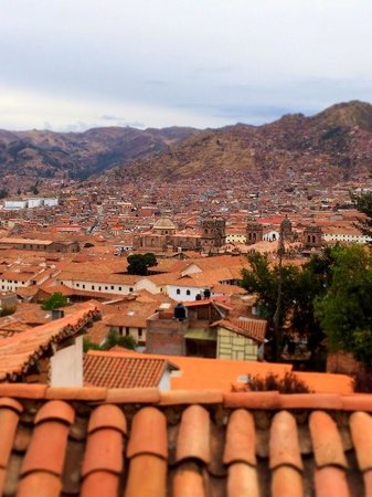 Samay Wasi Youth Hostels Cusco : View from Room 6 second floor
